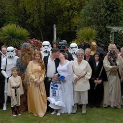 Couple Celebrates 'Star Wars Day' by Joining Forces
