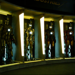 Stark Industries' Hall of Armor at Comic Con