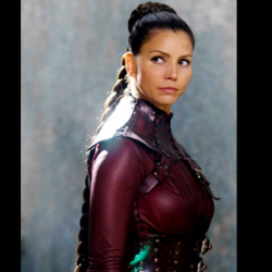 Charisma Carpenter In Skintight Leather For LEGEND OF THE SEEKER