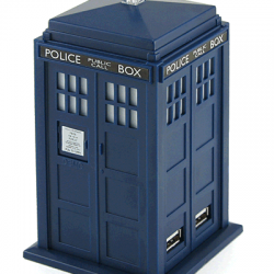 SCIFI MAFIA CHRISTMAS LOOT: Day Twelve – Travel With The Doctor In The Tardis Four-Port USB Hub