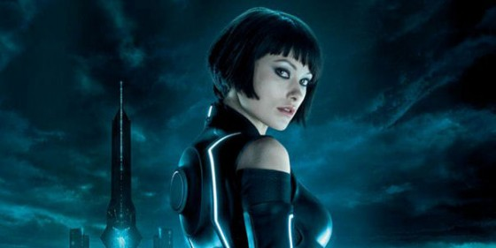 for Tron: Legacy. The poster features the lovely Quorra (Olivia Wilde)