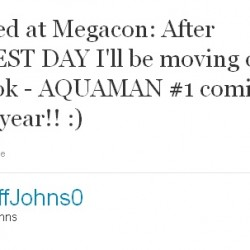 Geoff Johns to Pen New Aquaman Series