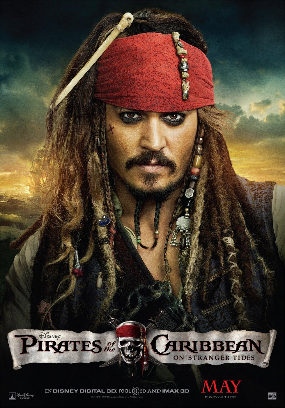 New pirates of the caribbean on stranger tides posters featuring depp