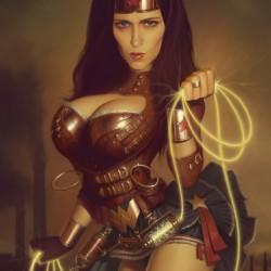 Wonder Woman Steampunk'd