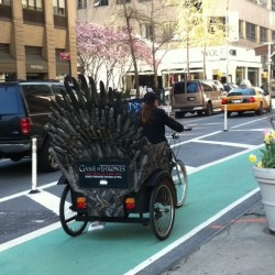 Iron Throne Rickshaws: NYC Truly is the Greatest City on Earth
