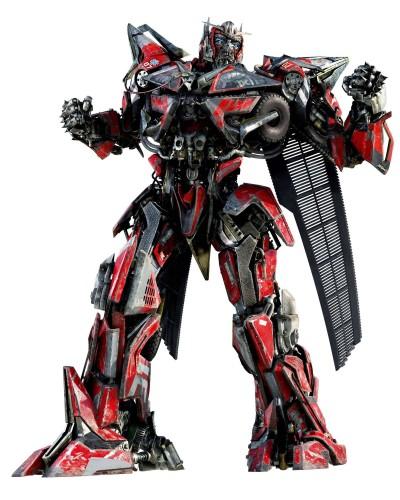 transformers dark of the moon sentinel prime and optimus prime. look at Sentinel Prime.