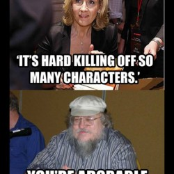 Scifi Mafia's Pic of the Day: Rowling vs. Martin