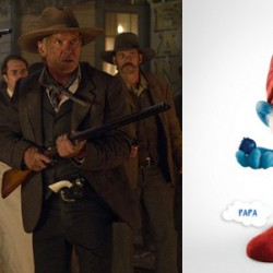 Cowboys & Aliens Vs The Smurfs: Harrison Ford Executes Western Justice Against Papa Smurf