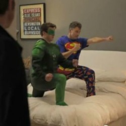 Tim Daly and Nathan Fillion Get Together for a Superhero Play Date