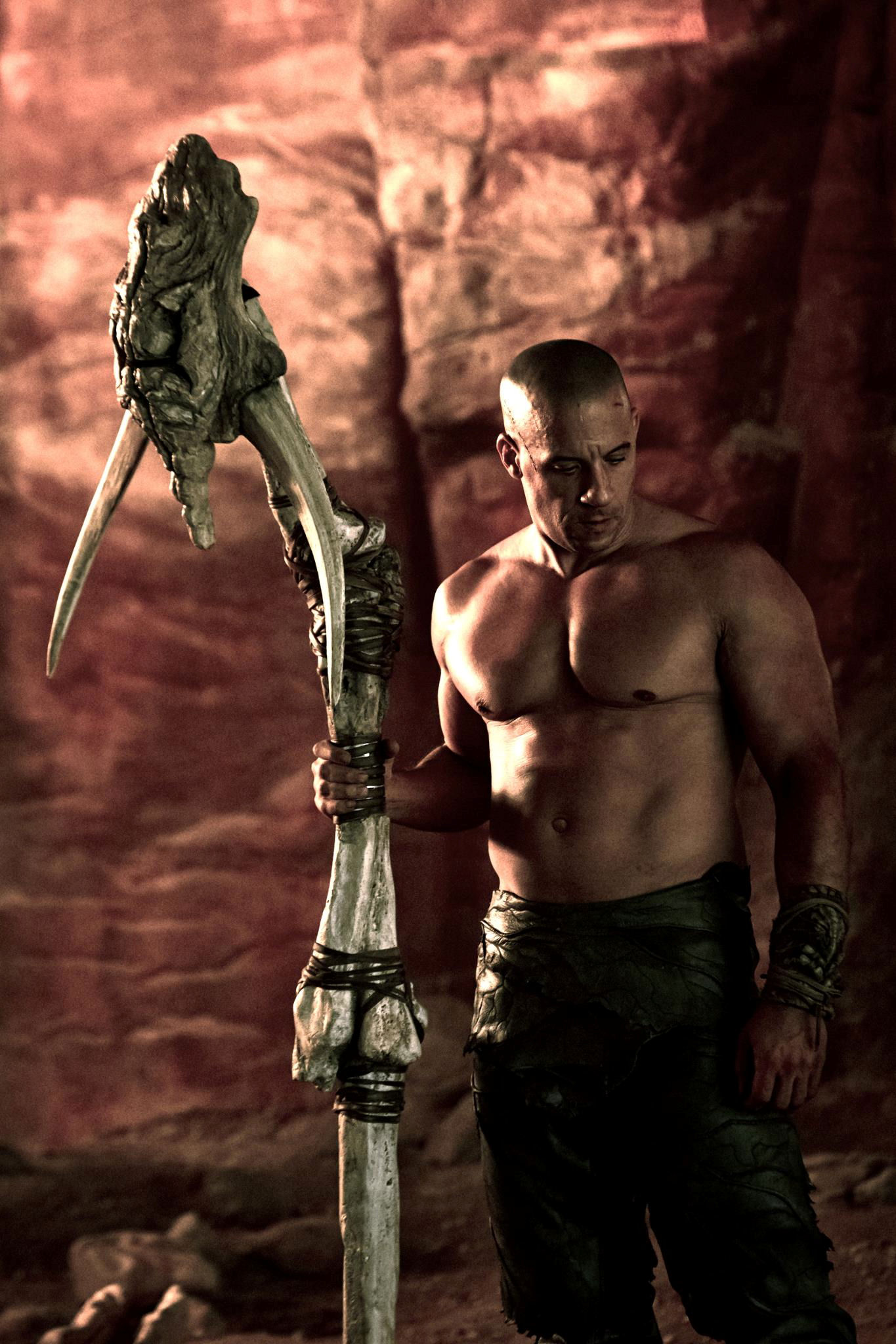 Riddick from the film on his Facebook page along with the comment