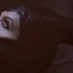 Angelina Jolie Is A High-Flying Devil On The Set of Disney's MALEFICENT