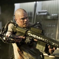 First Image from Neill Blomkamp's ELYSIUM Shows Matt Damon Locked and Loaded