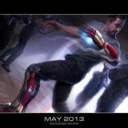 First IRON MAN 3 Concept Art Reveals Stark's Extremis Armor