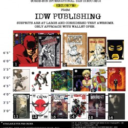 IDW Announces SDCC 2012 Exclusives