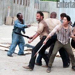 First Look: The Walking Dead Season 3 Prison Fight! Plus Glen Mazzara Talks About Varying From the Comics