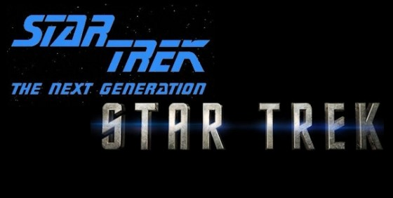 Star Trek TNG and Movie logos wide