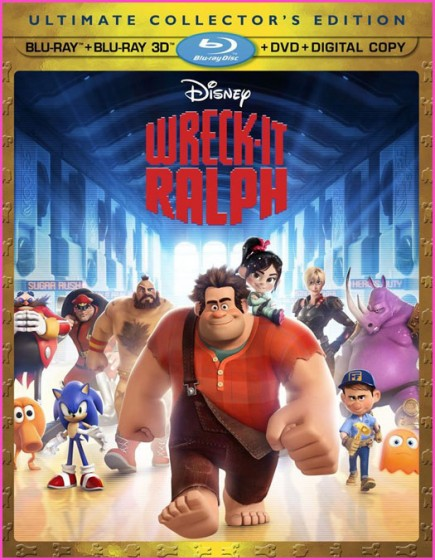Wreck It Ralph Blu-ray DVD cover art
