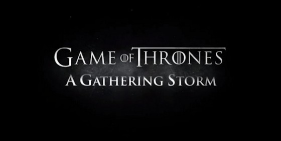 Game of Thrones s2 recap A Gathering Storm logo wide