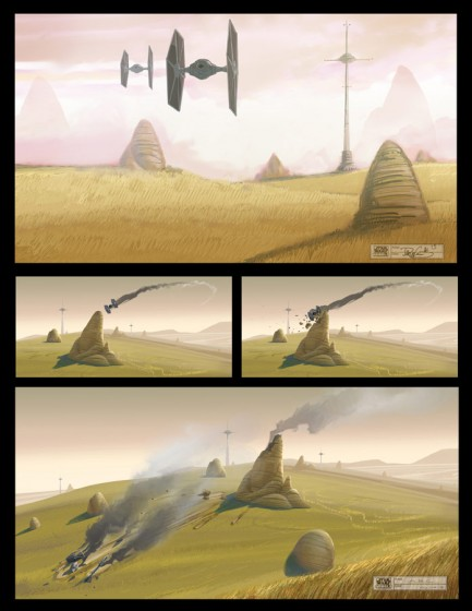 Star Wars Rebels crash concept art