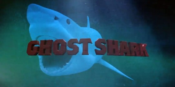 Ghost Shark logo wide