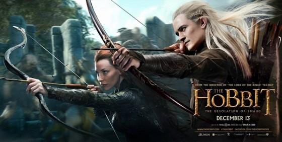 The Hobbit TDOS banner Tauriel Legolas wide