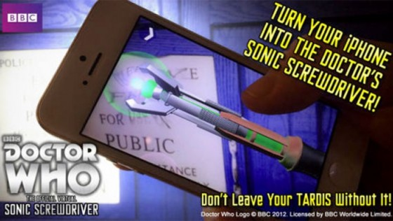 Doctor Who Virtual Sonic Screwdriver app for iPhone