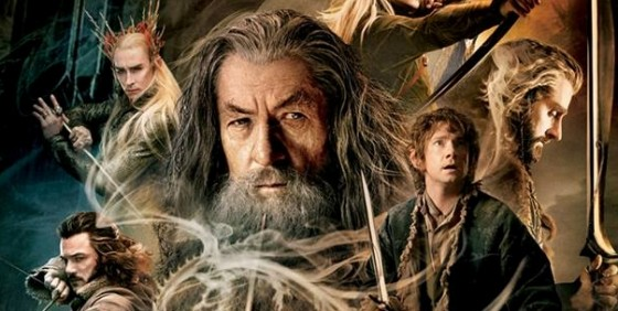 Hobbit TDOS theatrical poster gandalf partial wide