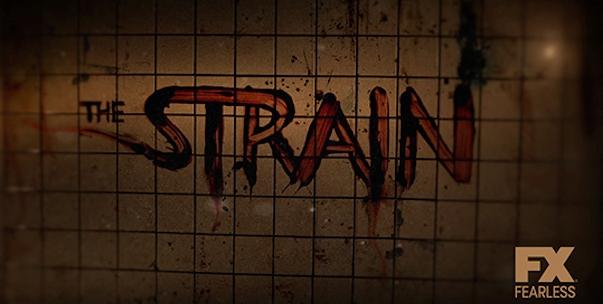 The Strain logo wide