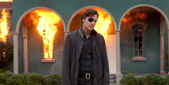 The Walking Dead 406 Governor burning house wide