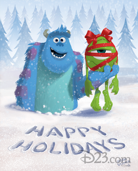 Christmas 2013 Monsters U