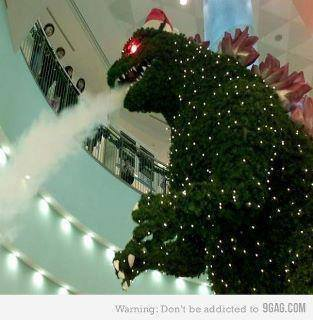 Christmas 2013 evergreen godzilla