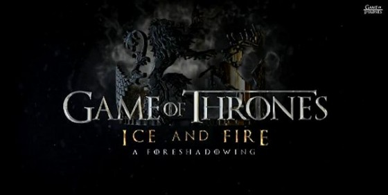 Game of Thrones s4 Ice and Fire logo wide