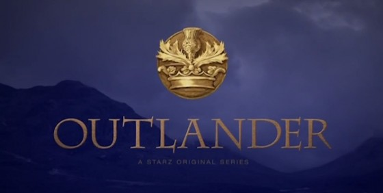 Outlander Starz show logo wide