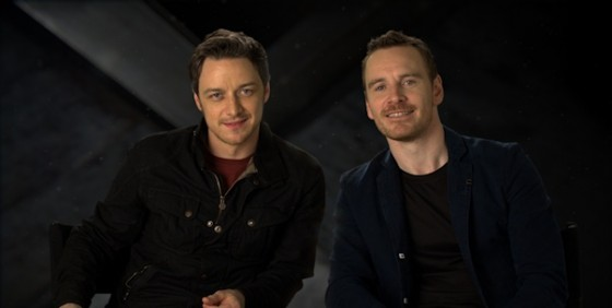 James McAvoy and Michael Fassbender - XMEN DAYS OF FUTURE PAST wide
