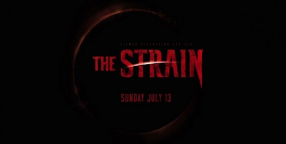 The Strain logo with date wide