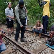 The Walking Dead BTS 414 rails