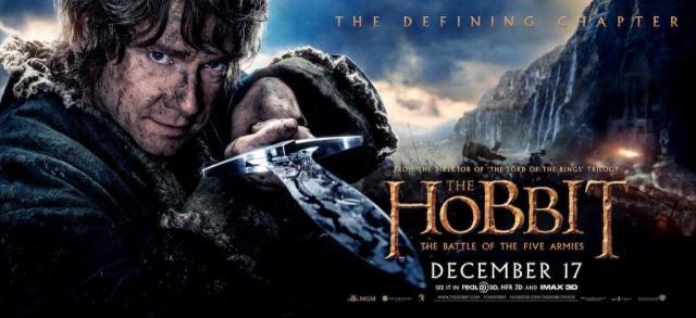 The Hobbit TBOTFA banner Bilbo sting