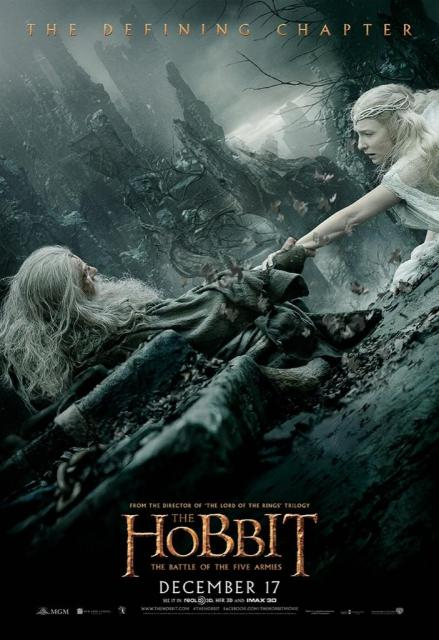 The Hobbit TBOTFA theatrical poster Gandalf Galadriel