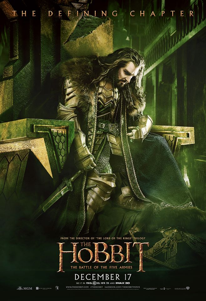 The Hobbit TBOTFA theatrical poster Thorin
