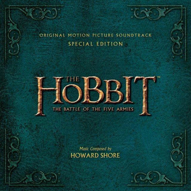The Hobbit TBOTFA soundtrack special edition cover