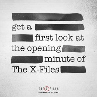 xfiles first minute