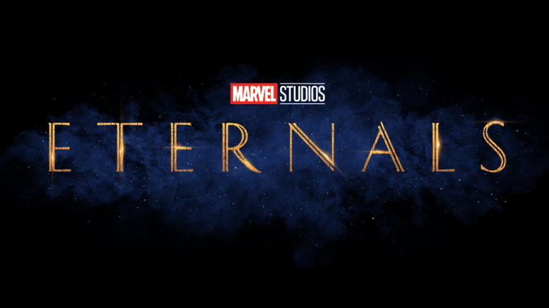 Marvel Studios logo above large Eternals logo